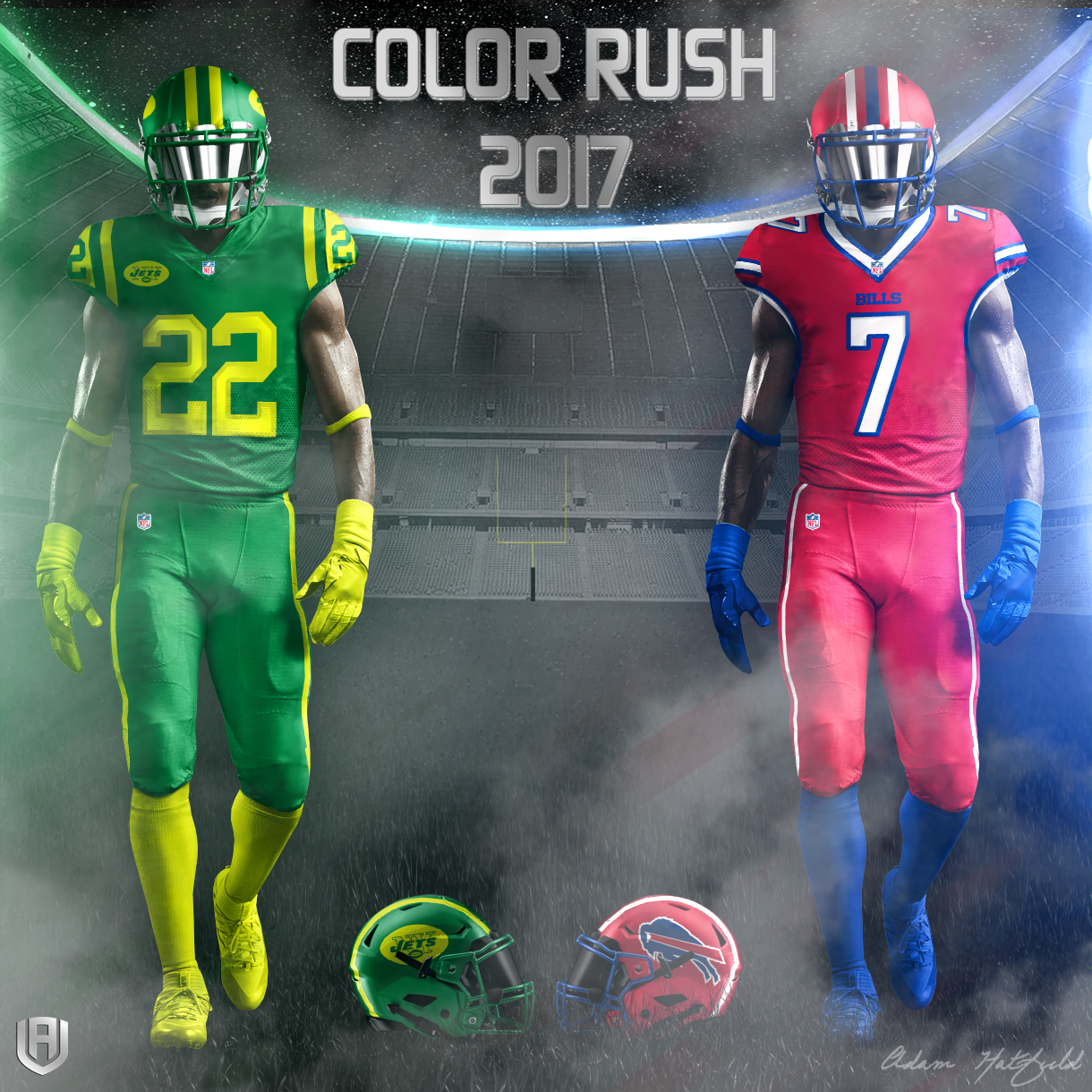 hot sales 7b978 ae4d1 Creative Department: NFL Color Rush 2017 Concepts » Avála ...