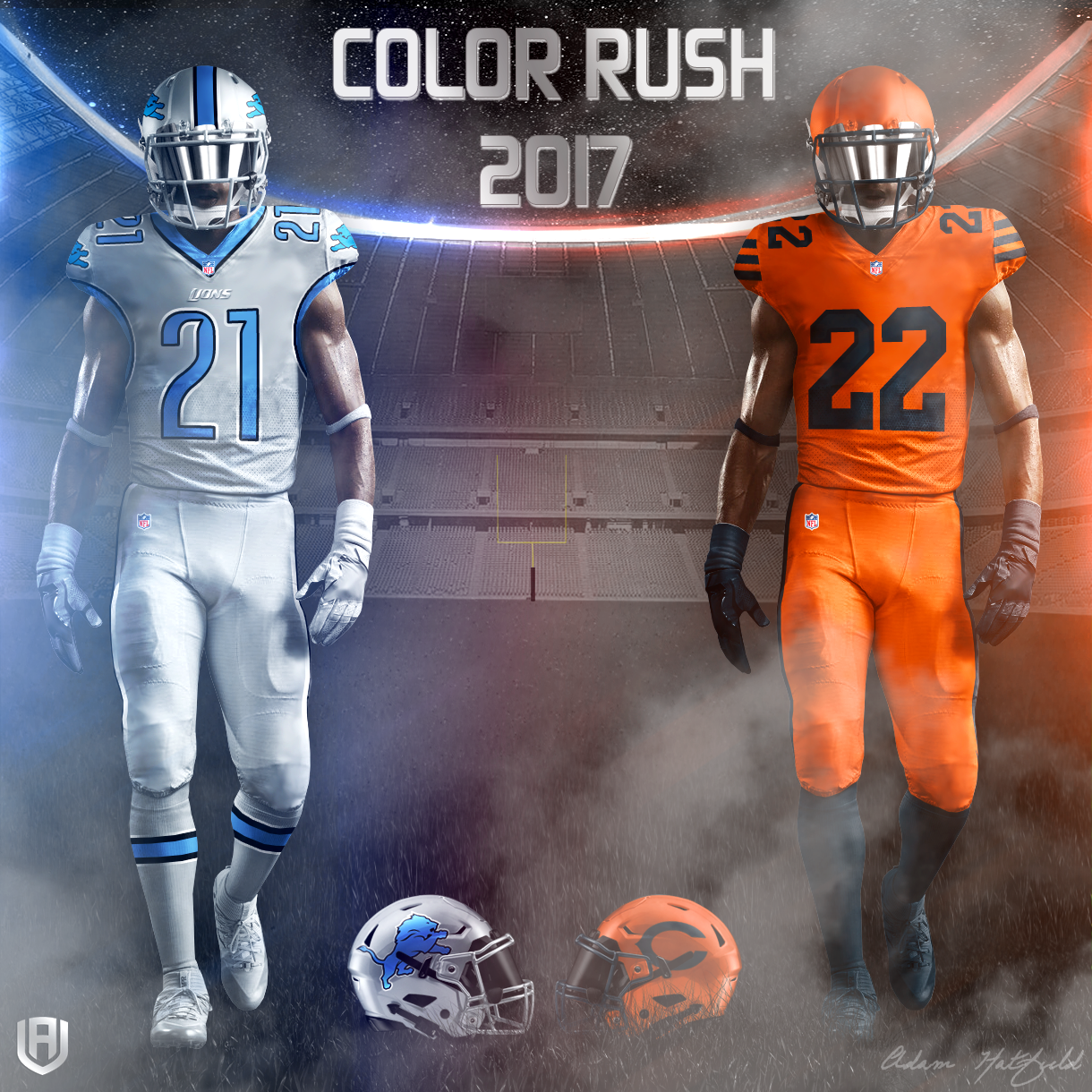 Creative Department: NFL Color Rush 2017 Concepts » Avála ...